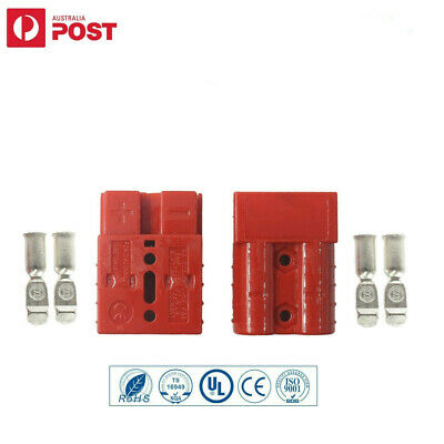 AU8.99 • Buy 2x Connectors Anderson Style Plug DC Power 50AMP Solar Caravan 6AWG RED