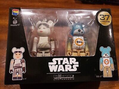 $40 • Buy Happy Lottery Star Wars Bearbrick Pair Box 37 Rey And BB8 USA Seller