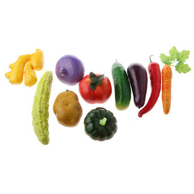 Vivid Artificial Vegetables / Fruits Toy Imitation Food Home Store Cabinet Decor • 3.76£