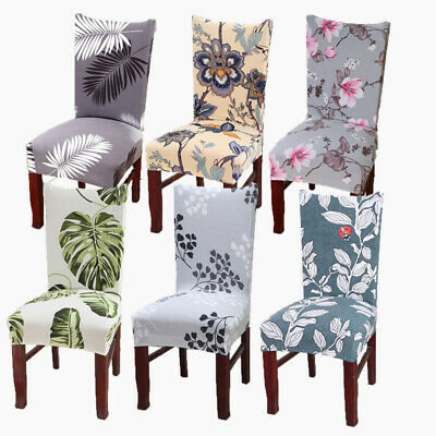 AU33.47 • Buy 1-6 PCS Dining Chair Covers Spandex Slip Cover Stretch Wedding Banquet Party
