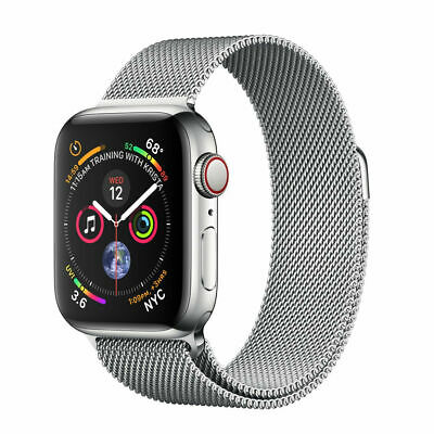 $ CDN783.53 • Buy Apple Watch Series 4 (GPS + Cellular, 44mm) - Stainless Steel Case With Milanese