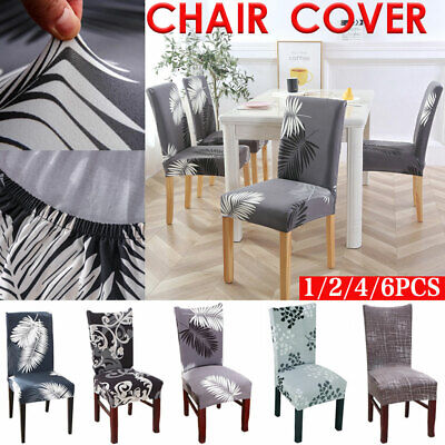 AU8.29 • Buy 1-6 PCS Dining Chair Covers Spandex Slip Cover Stretch Wedding Banquet Party