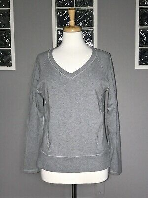 $ CDN62.40 • Buy Lululemon After Asana Pullover 4 6 Heathered Gray Long Sleeve V Neck Euc