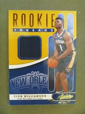2019-20 Absolute Rookie Threads JERSEY ZION WILLIAMSON New Orleans Pelicans • 10.50$