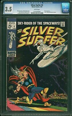Silver Surfer #4   CGC 3.5 VG-  Thor Crossover  (Scarce) • 107.50$