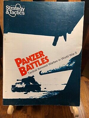 SPI Strategy & Tactics #73 Game Magazine - Panzer Battles - Unpunched • 20$
