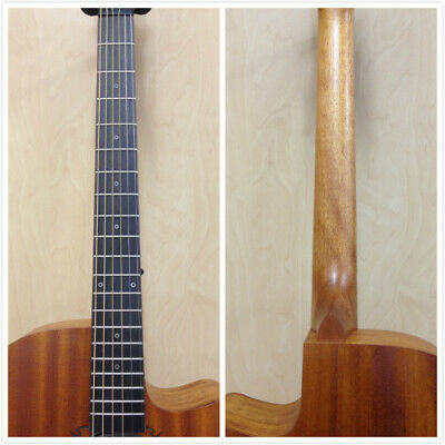 AU214 • Buy Caraya Safair 40-CEQ All-Mahogany Parlor Acoustic Guitar W/EQ + Gig Bag +Strings