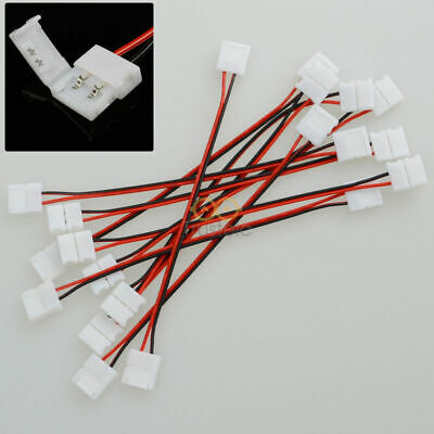10x 10mm 2 Pin Connector Wire Cable 15cm For 5050 Single Color LED Light Strips  • 0.16$
