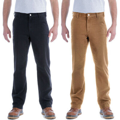 Carhartt Mens Stretch Duck Dungaree Rugged Chino Trousers • 58.15£