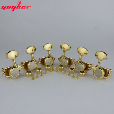$ CDN39.66 • Buy NEW GUYKER Vintage Locking Tuner Pegs Gear Butterbean Guitar Tuners Gold