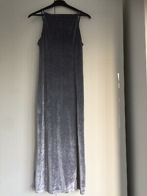 £9.99 • Buy Grey Maxi Dress, Petite Size 12 With Beaded Straps