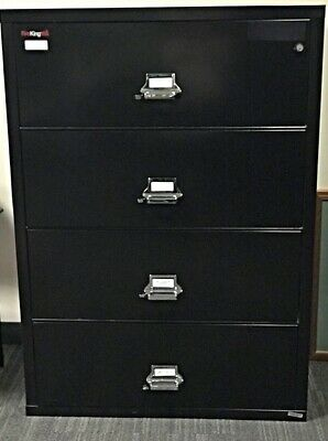 Fire King 4-Drawer Fireproof Lateral File Letter/Legal Black  • 1,500$