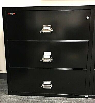 Fire King 3-Drawer Fireproof Lateral File Letter/Legal Black  • 1,000$