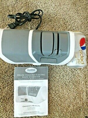 Smith's Delux Diamond Electric Knife Sharpener Nice Cond With Instructions 50127 • 1.25$
