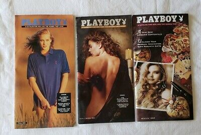 3 Playboy Merchandise Catalogs Fall 91 Spring 92 Winter 92 Lingerie Centerfolds • 15$