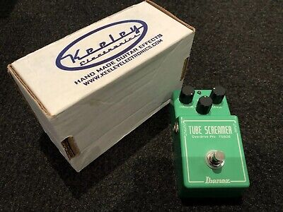 KEELEY MODDED Ibanez Tubescreamer TS-808 Mod+ Plus With Hard Bypass SRV Petrucci • 202.80$