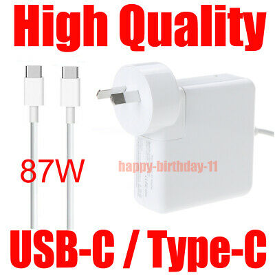 AU46.99 • Buy 87W Power Adapter Charger USB-C Type C Or New Version Apple Macbook Pro 15