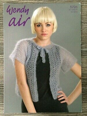 Wendy Air Knitting Pattern:Ladies Cardigan Jacket, Fine Mohair, 32-42 , 5726 • 3.14£