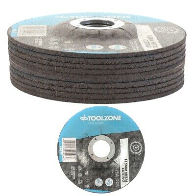 £8.63 • Buy 10x METAL STONE DEPRESSED CUTTING DISCS 115mm 4.5  Centre Angle Grinding Disks