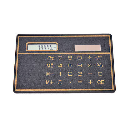 Mini Credit Card Solar Power Pocket Calculator Novelty Small Travel Compact • 2.76£