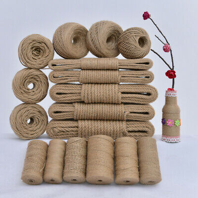 Jute Twine String Slim Thick Strong Natural Jute Rope Roll For Floristry Garden • 12.95£
