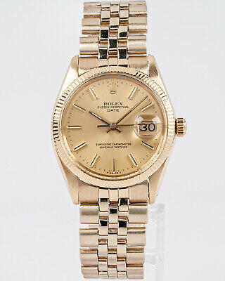 $ CDN7539.61 • Buy Vintage 1972 Rolex 14k Oyster Perpetual Date Ref. 1503 W/ Rolex USA Jubilee Band