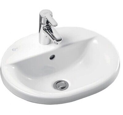 Ideal Standard Concept Oval Countertop Basin 480mm Wide 1 Tap Hole • 89.99£