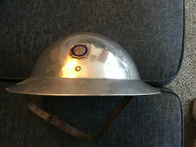 Aluminum Parade Helmet ~  WWI ~ VFW Hat Veterans US Army Last One! • 50$
