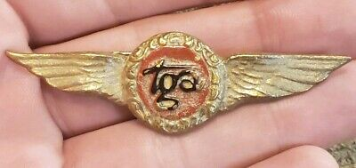 Rare 1930s To 40 Large Tga Airlines Pilot Wings Badge Transglobal Trans Guyana ? • 59.95$