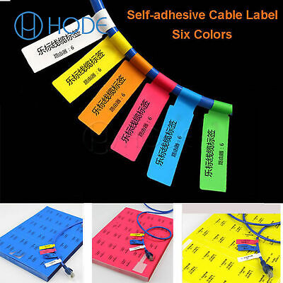 300pcs 10 Sheets A4 Self-adhesive Cable Labels Identification Markers Tags UK • 3.49£