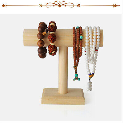 $21.31 • Buy Wooden T Bar Headband Holder Bracelet Watch Anklet Jewelry Display Stand Rack