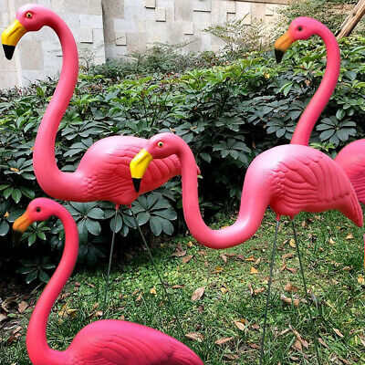 £9.89 • Buy Set Of 2/4 Pink Flamingo Bird Lawn Pond Ornaments Patio Garden Decoration Statue
