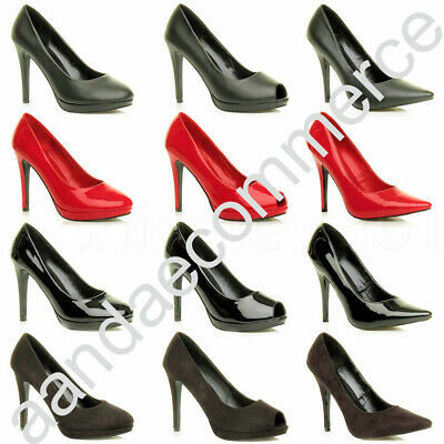 £19.99 • Buy Mens Womens Drag Queen Crossdresser High Heel Pointy Court Shoes Boots Size 9-12