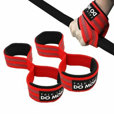 £10.98 • Buy Wrist Straps Weight Gym Powerlifting Deadlift Horizontal Fitness Hand Support