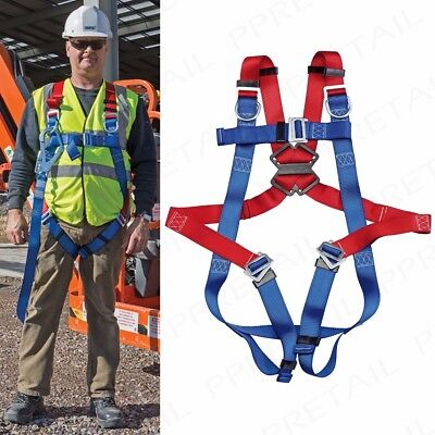 PROFESSIONAL FULLY ADJUSTABLE SAFETY HARNESS 3 Point Fall Protection Scaffold • 56.25£