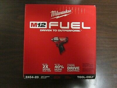 Milwaukee M12 Fuel 3/8  Impact Wrench 2454-20 (tool Only) BRAND NEW • 137.95$