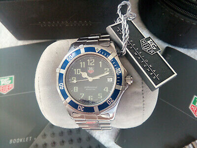 Superb Tag Heuer 2000 Professional Mens Watch, Sport Blue, Full Set & All Papers • 413.68$