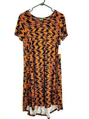 LuLaRoe Carly High Low Dress Geometric Pattern XS Knit Pocket Stretch Womens NWT • 14.33£