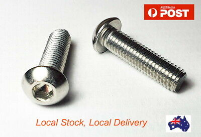 AU3.50 • Buy M4 M5 M6 M8 Button Socket Head 304 Stainless Steel Screw Allen Bolt Screws Bolts