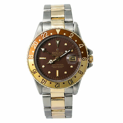 $ CDN18682.62 • Buy Rolex GMT-Master Root Beer 1675 Automatic Watch Matte Nipple Dial Service Papers