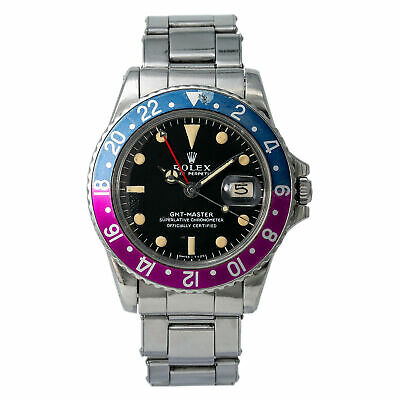 $ CDN33367.06 • Buy Rolex GMT Master Mark 0 Fuchsia Pepsi 1675 Men's Rare Automatic Watch Gilt Dial