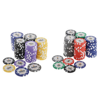 AU40.79 • Buy 100pcs Chips Crown Striped Poker Chips Casino Card Game Token Caly 4cm