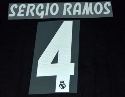 $17.50 • Buy Real Madrid Sergio Ramos 4 18/19 Football Shirt Name/Number Set Sporting ID A
