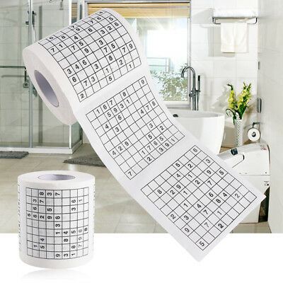 AU8.96 • Buy Novelty Funny Number Sudoku Printed Toilet Paper Bath Tissue Gift1 Roll 2 Pl  Qd