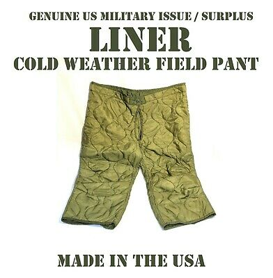 $14.95 • Buy M S/r Us Military M65 M51 Extreme Cold Weather Arctic Pant Liner Field Trousers