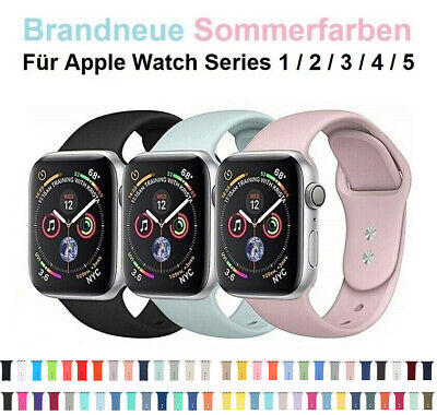 Silicone Rubber Band Bracelet Strap Sports Band For Apple Watch Series 1 2 3 4 5 • 3.59£