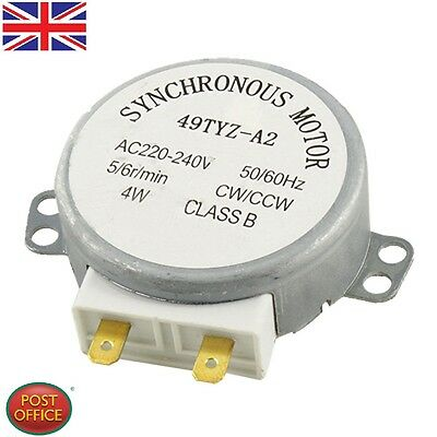 CW/CCW Turntable Microwave Oven Synchronous Motor AC 220-240V 4RPM 4W Uomtj • 6.89£
