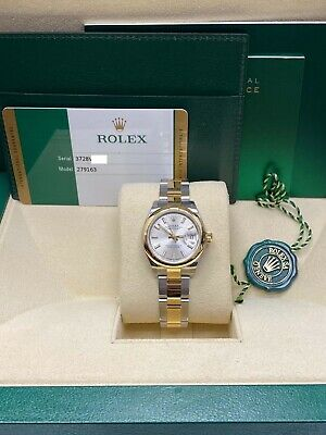 $ CDN10753 • Buy Brand New Ladies Datejust 28mm 279163 18K Yellow Gold & Steel Box And Papers