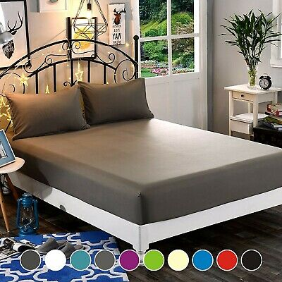 AU30.61 • Buy 1000TC 3 Pieces Fitted Sheet Set K Single/D/Queen/King/Super King Bed (No Flat)
