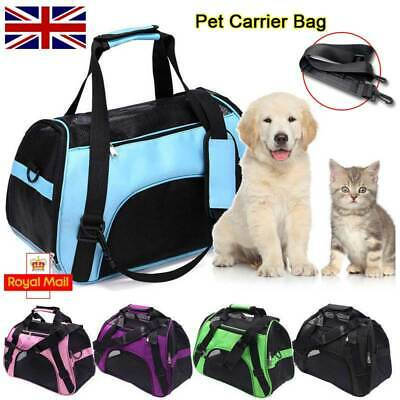 Pet Dog Cat Puppy Portable Travel Carry Carrier Tote Cage Bag Crates Kennel Box • 9.91£